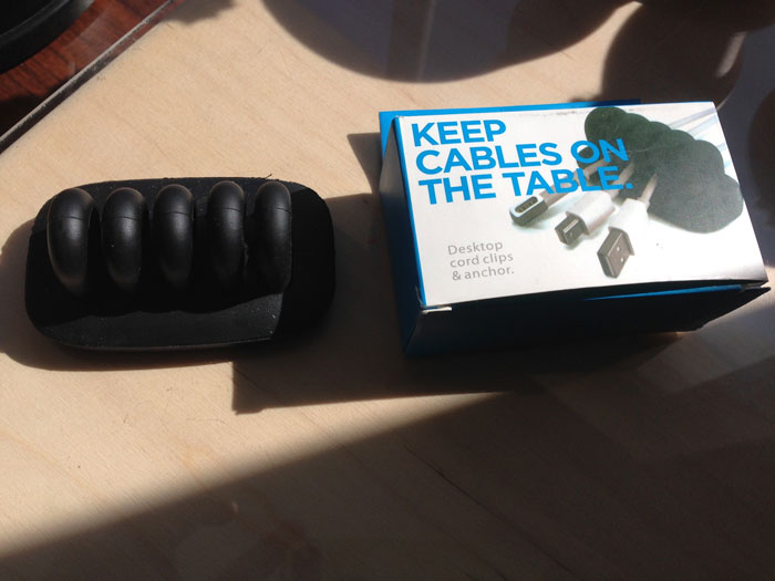 Cordies Keep Cables On The Table Desktop Cord Anchor Black