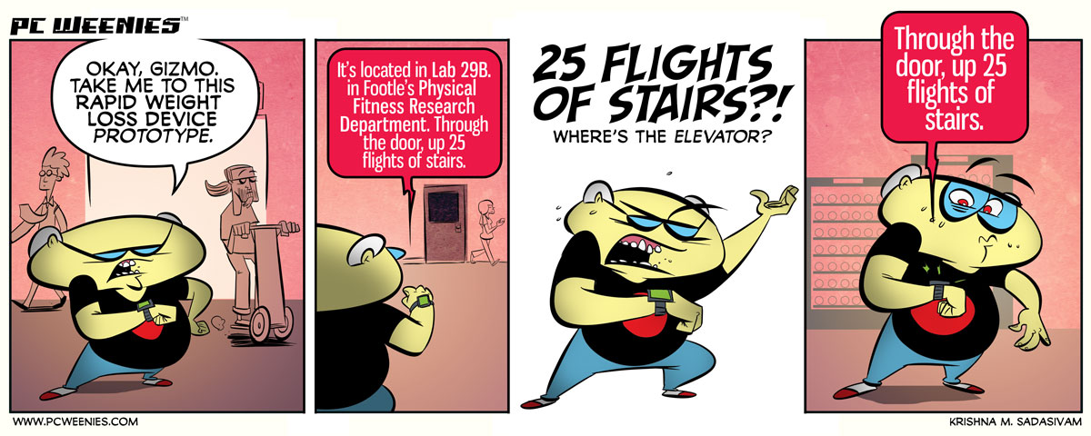 Of Flights and Stairs